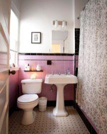Shabby chic blue shower tile design ideas for your bathroom 17