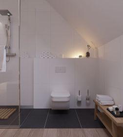 Shabby chic blue shower tile design ideas for your bathroom 33