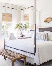 Unique white minimalist master bedroom design ideas 20
