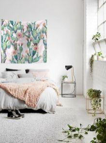 Unique white minimalist master bedroom design ideas 32