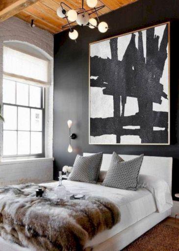 Unique white minimalist master bedroom design ideas 37