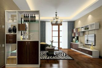 Astonishing partition design ideas for living room 03