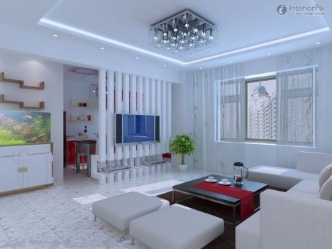 Astonishing partition design ideas for living room 11