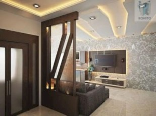 Astonishing partition design ideas for living room 50