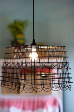 Best ideas to reuse old wire baskets 40