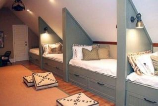 Charming bedroom design ideas in the attic 01