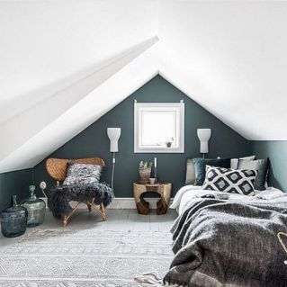 Charming bedroom design ideas in the attic 02