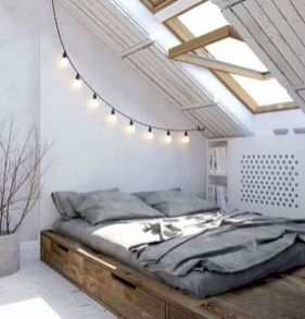 Charming bedroom design ideas in the attic 16
