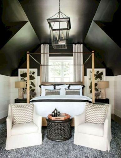 Charming bedroom design ideas in the attic 26