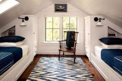 Charming bedroom design ideas in the attic 30