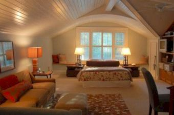 Charming bedroom design ideas in the attic 34
