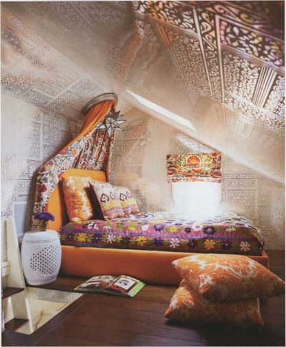 Charming bedroom design ideas in the attic 35
