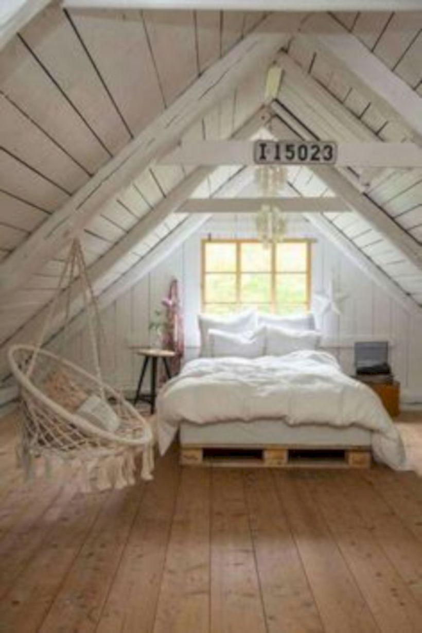Charming bedroom design ideas in the attic 36