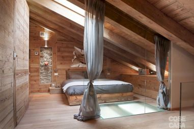 Charming bedroom design ideas in the attic 41