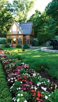 Charming flower beds ideas for shady yards 27