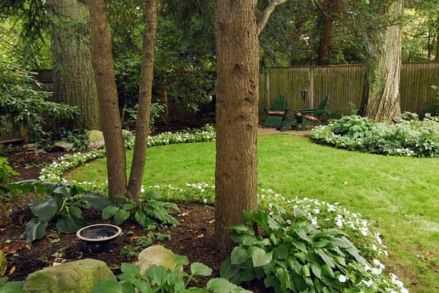 Charming flower beds ideas for shady yards 30
