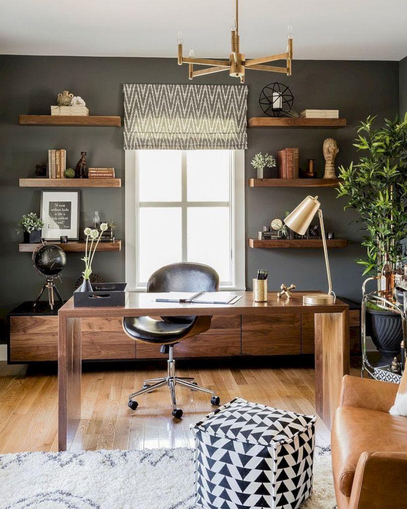 Classy home office designs ideas 34