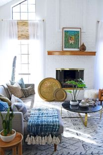 Cool living room designs ideas in boho style17
