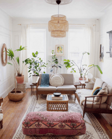 Cool living room designs ideas in boho style26