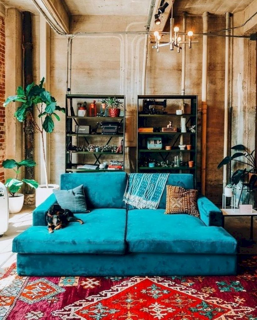 Cool living room designs ideas in boho style33