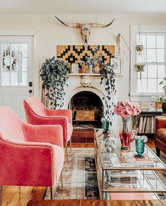 Cool living room designs ideas in boho style48