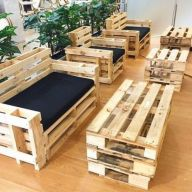 Graceful pallet furniture ideas 28
