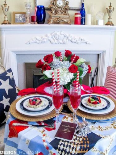 Newest 4th of july table decorations ideas 16