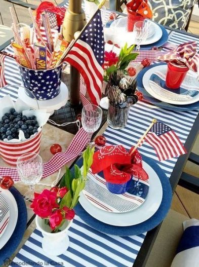 Newest 4th of july table decorations ideas 21