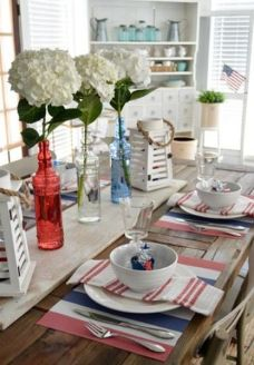 Newest 4th of july table decorations ideas 24