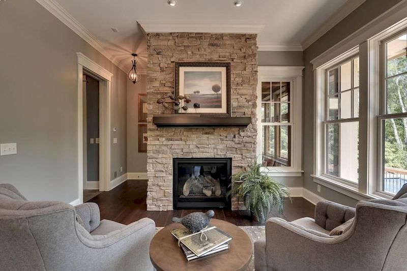 Attractive painted brick fireplaces ideas 09