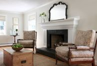 Attractive painted brick fireplaces ideas 17