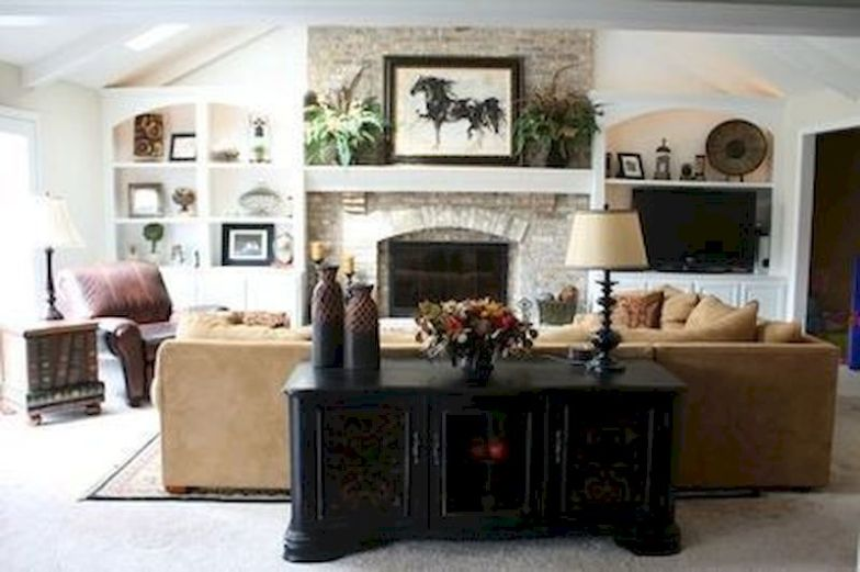 Attractive painted brick fireplaces ideas 26