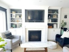 Awesome living room paint ideas by brown furniture 09