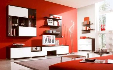 Awesome living room paint ideas by brown furniture 20