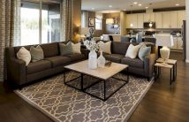 Awesome living room paint ideas by brown furniture 22