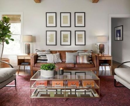 Awesome living room paint ideas by brown furniture 28