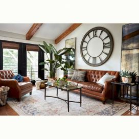 Awesome living room paint ideas by brown furniture 35