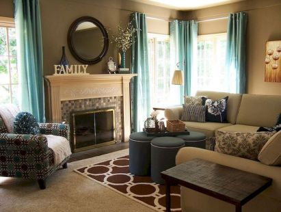 Awesome living room paint ideas by brown furniture 36