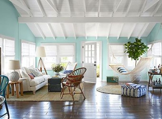 Awesome living room paint ideas by brown furniture 38