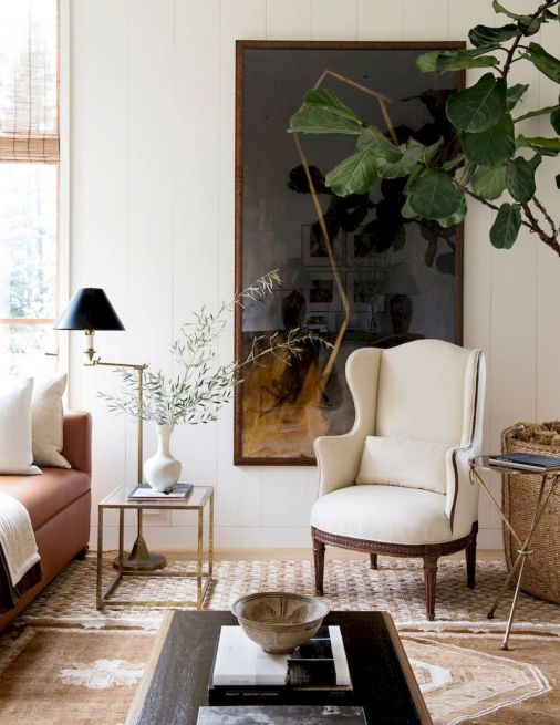 Awesome living room paint ideas by brown furniture 42