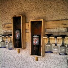 Elegant wine rack design ideas using wood 06