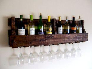Elegant wine rack design ideas using wood 07