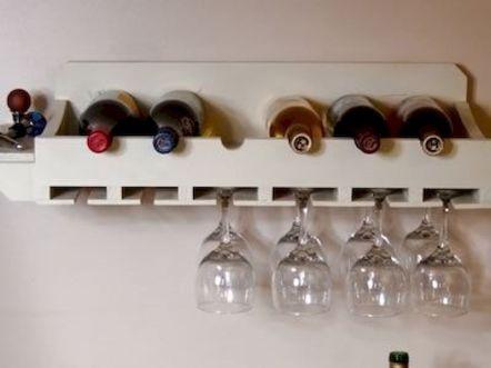 Elegant wine rack design ideas using wood 17