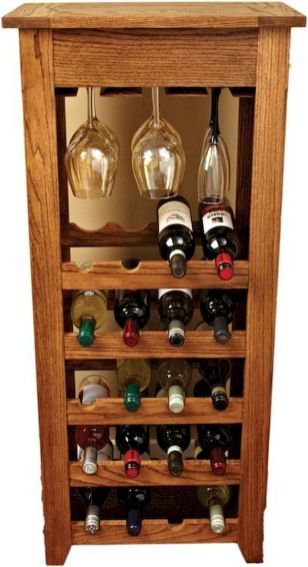 Elegant wine rack design ideas using wood 29