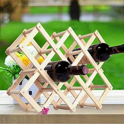 Elegant wine rack design ideas using wood 40
