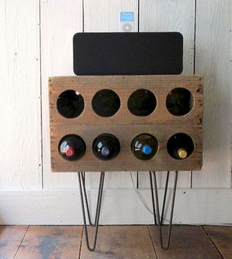 Elegant wine rack design ideas using wood 45