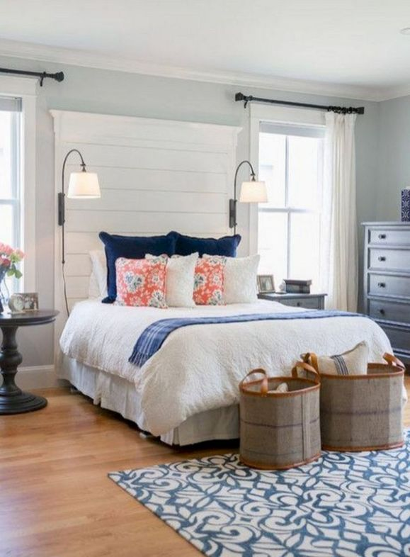 Gorgeous coastal bedroom design ideas to copy right now 37