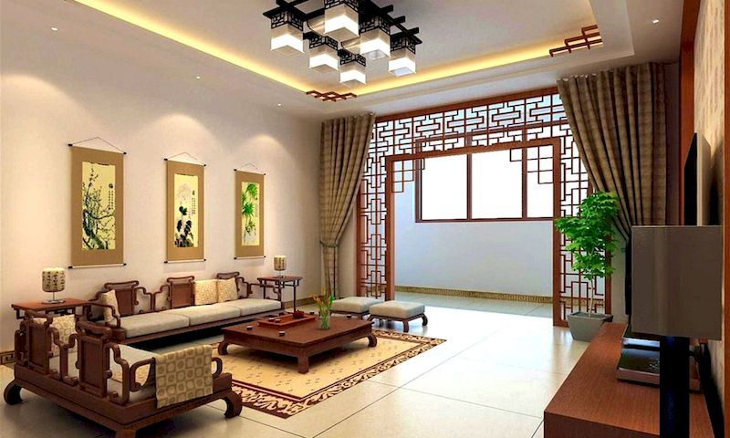 Impressive chinese living room decor ideas 26