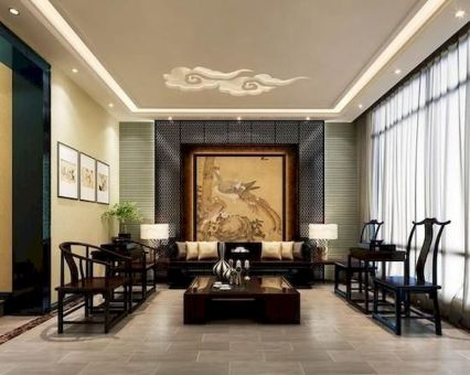 Impressive chinese living room decor ideas 32