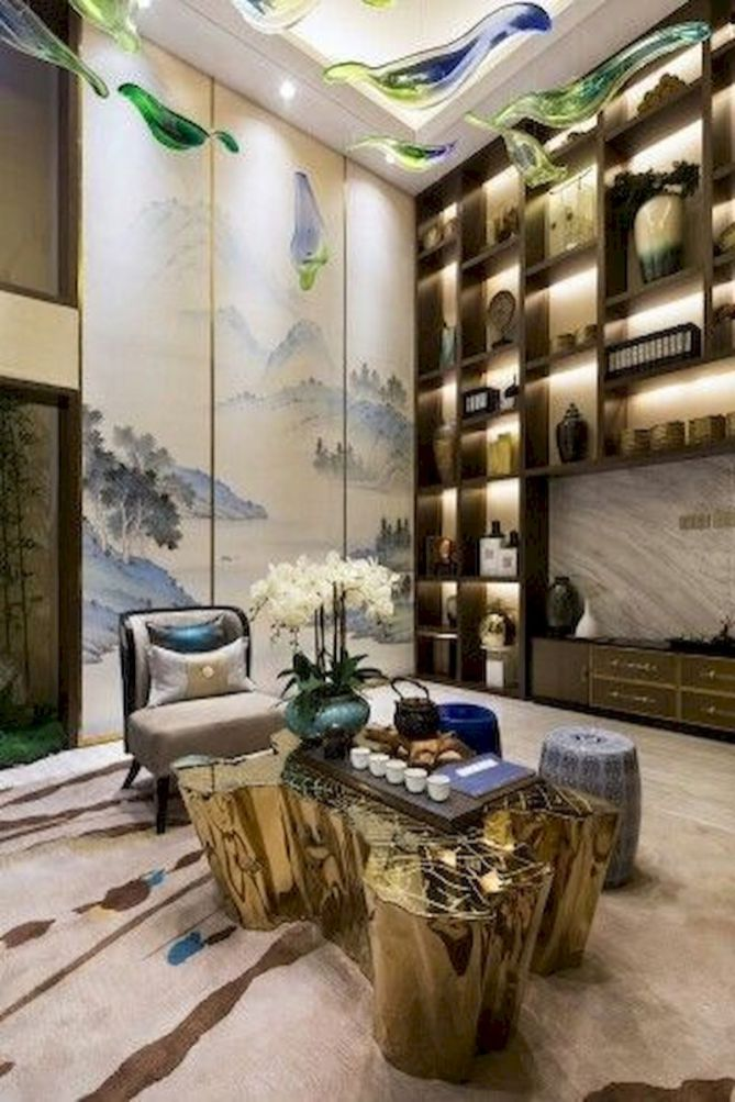 Impressive chinese living room decor ideas 38